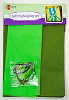 "Набор для упаковки подарка 40*55см зеленый-хаки 952059 ""Santi"""