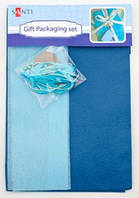 "Набор для упаковки подарка 40*55см сине-серый 952057 ""Santi"""