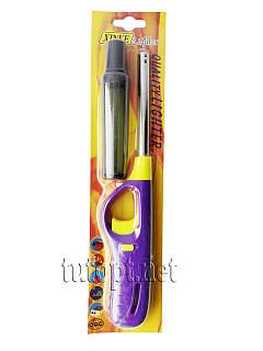 Зажигалка газовая с балоном для газовой плиты с защитой от детей на блистере