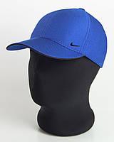 """Бейсболка спорт """"Nike"""" цвета электрик с черным кантом, шестиклинка плащевка точка"""