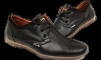Кожаные мужские туфли Clarks, качество,черные