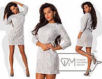 Женское платье из гипюра на шерсти