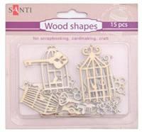 """Набор форм деревянных """"Ключи-клетки"""" 15 штук 952592 """"Santi"""""""