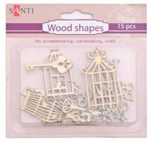 """Набор форм деревянных """"Ключи-клетки"""" 15 штук 952592 """"Santi"""", фото 2"""