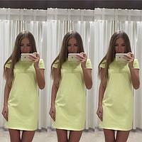 Платье летнее короткое , ткань масло, цвет Розовый, мята,желтый,голубой, сиреневый хорошее качество ля № бэмби