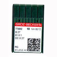 Иглы для промышленных оверлоков B27/81x1/DCx27/DCx1 80 RG Groz-Beckert