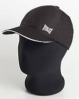 """Бейсболка с лого """"Everlast"""" черная с белым кантом, шестиклинка плащевка точка"""