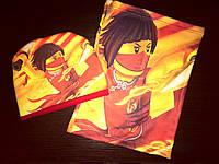 Комплект для девочки Ния Ниндзяго Ninjago шапка и бафф (хомут)
