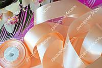 Лента атласная 5см нежно-персиковая