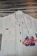 Рубашка детская,белая,коротк.рукав.4-5лет.ХБ, фото 1