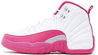 "Женские кроссовки Air Jordan 12 Retro ""Valentine's Day"" (Аир Джордан Ретро) белые/розовые"