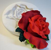 """Молд силиконовый """"Бархатная Роза"""" 9,2 см 8,2 см"""