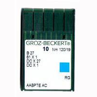 Иглы для промышленных оверлоков B27/81x1/DCx27/DCx1 120 RG Groz-Beckert
