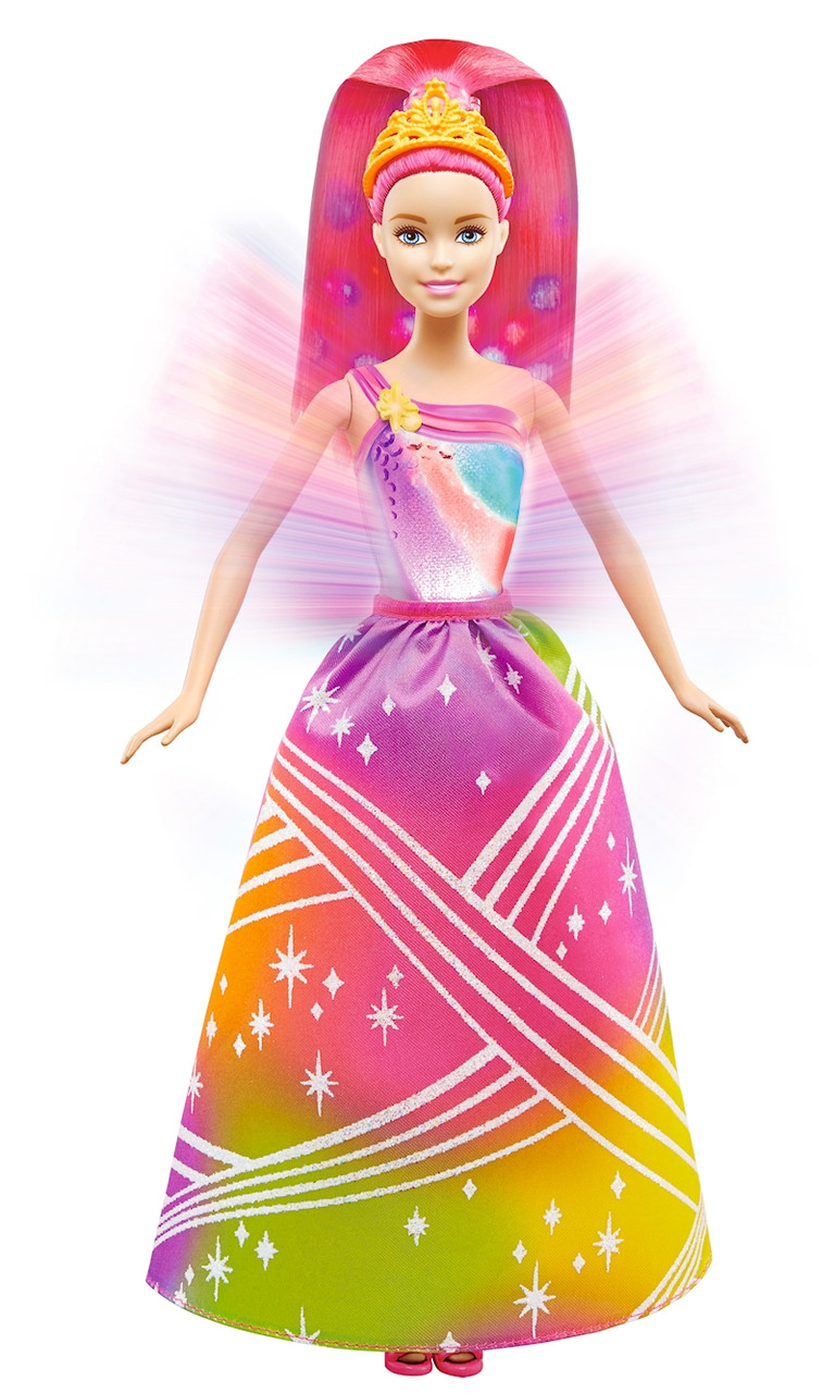 BARBIE® Радужная принцесса с волшебными волосами (Райдужна принцеса з чарівним волоссям)