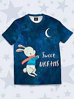 """Детская футболка """"Сладкие сны"""" с 3D принтом/рисунком из легкой ткани для девочек и мальчиков."""