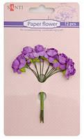 """Набор цветов бумажных для творчества розовый 952561 """"Santi"""""""