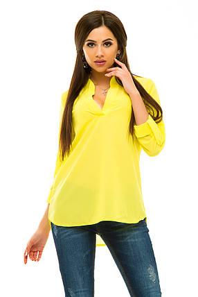 Блузка 232 желтая, фото 2