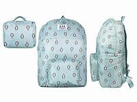 Рюкзак непромокаемый голубой Пингвины