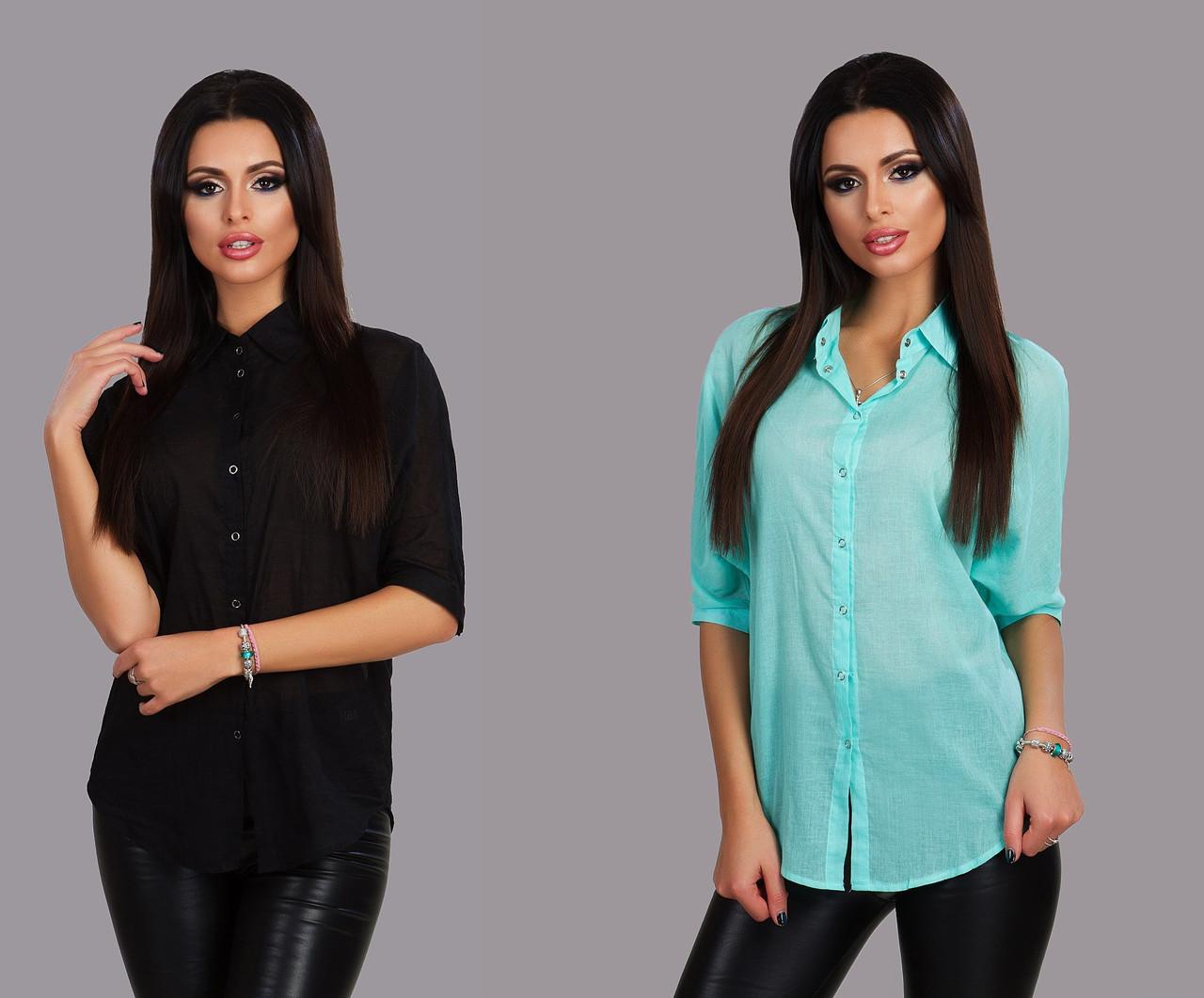 Женская блузка турецкий лен -