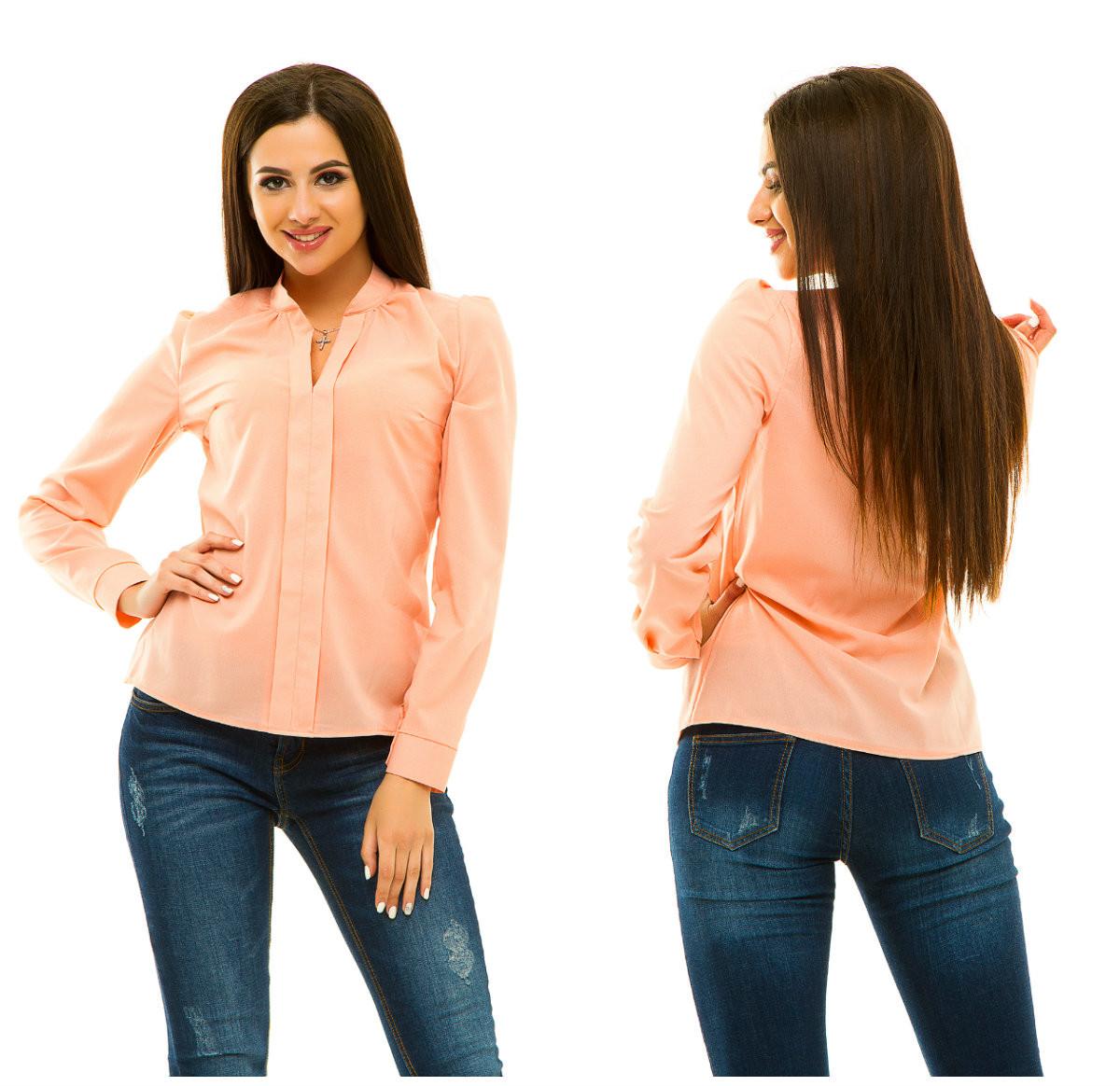 Блузка 233 персиковая