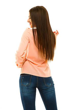 Блузка 233 персиковая, фото 2