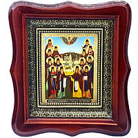 Фигурная икона Собор Оптинских старцев