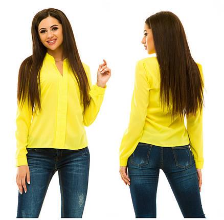 Блузка 233 желтый, фото 2
