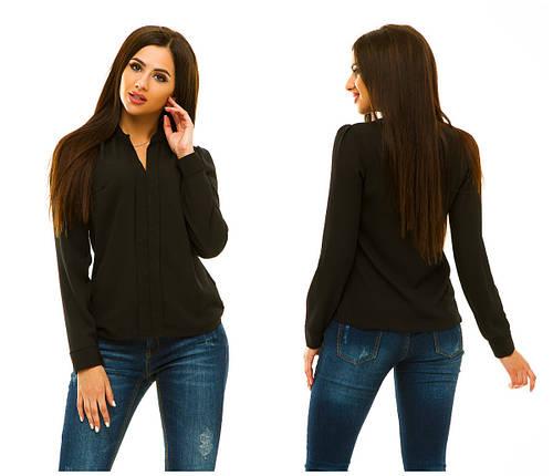 Блузка 233 черная, фото 2