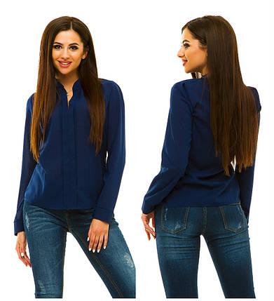 Блузка 233 темно-синяя, фото 2