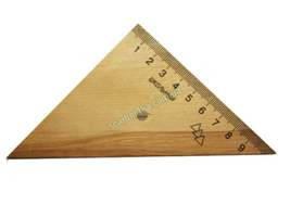 Треугольник деревянный 10см, фото 2