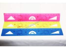 Линейка пластиковая 20см цветная