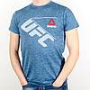 Меланжевая спортивная футболка, UFC (Джинс), фото 3