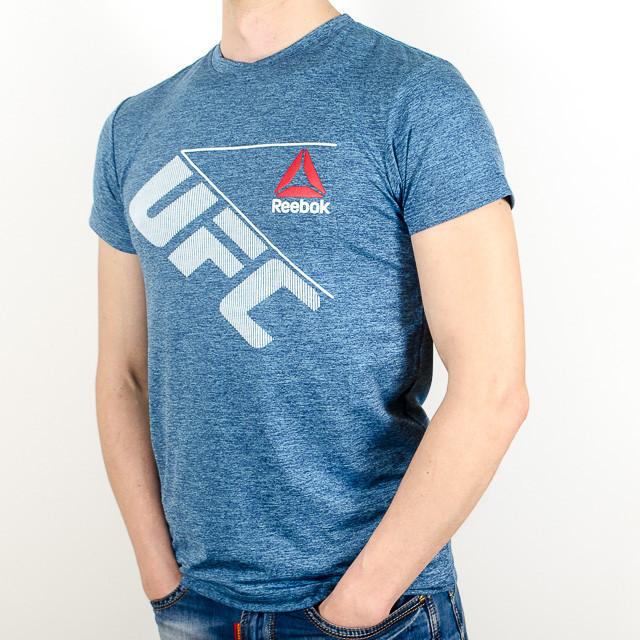 Меланжевая спортивная футболка, UFC (Джинс)