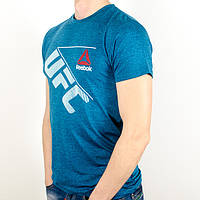 Меланжевая спортивная футболка, UFC (Т. бирюза)