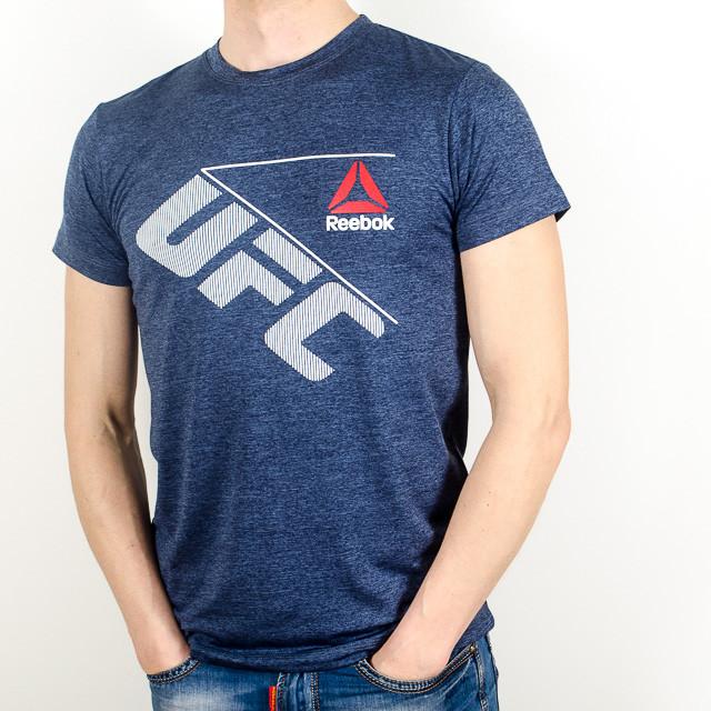 Меланжевая спортивная футболка, UFC (Т. синий)
