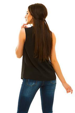 Блузка  322 черная, фото 2