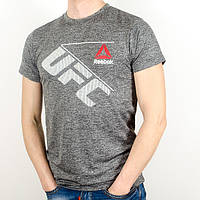 Меланжевая спортивная футболка, UFC (Серый)