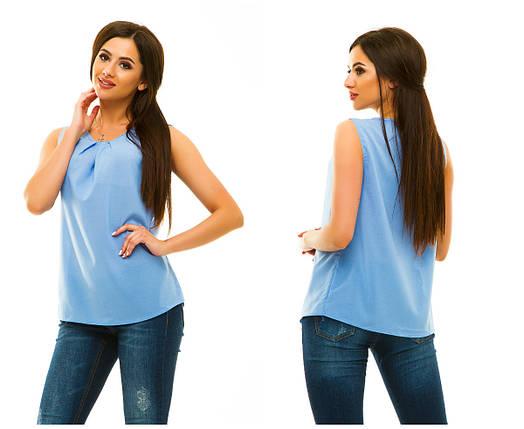 Блузка  322 голубая, фото 2
