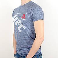 Меланжевая спортивная футболка, UFC (Электрик)