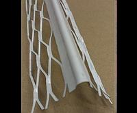 Угол для мокрой штукатурки с оцинкованной сеткой 3 м белый