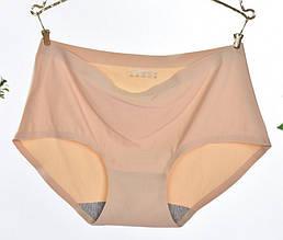 Трусы женские слипы бесшовные Elegance S (40-42 размер), телесный