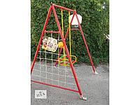 Качеля детская для улицы 4 в 1 (баскетбольное    кольцо+гладиаторская сетка+дартс)  № 6
