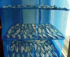 Сушилка для рыбы фруктов грибов на 3 секций средняя