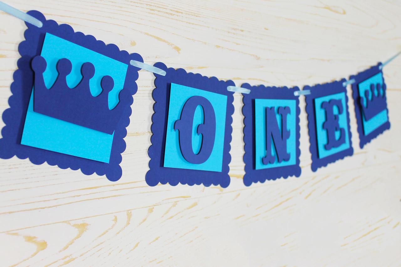 Гирлянда бумажная One Сине-голубая