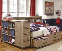 Односпальная кровать с ящиками - Геродот