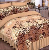Двухспальный комплект постельного белья с европростыней