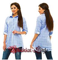 Стильная женская рубашка-туника