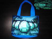 Пляжная летняя сумка Майнкрафт Алмазы