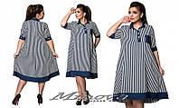 Льняное платье Бусинка(размеры 50-58)