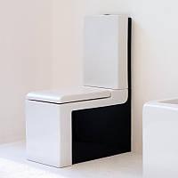 Черный унитаз с бачком и крышкой ArtCeram La Fontana Италия